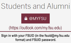 myFSU Sign-in for students and alumni