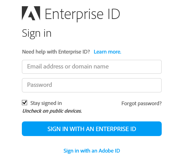 How do I sign in to the Adobe Creative Cloud desktop application on