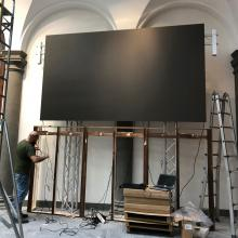 Installation of video wall within FSU Florence study center library